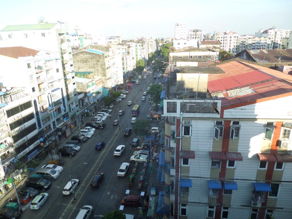Yangon utcarészlet