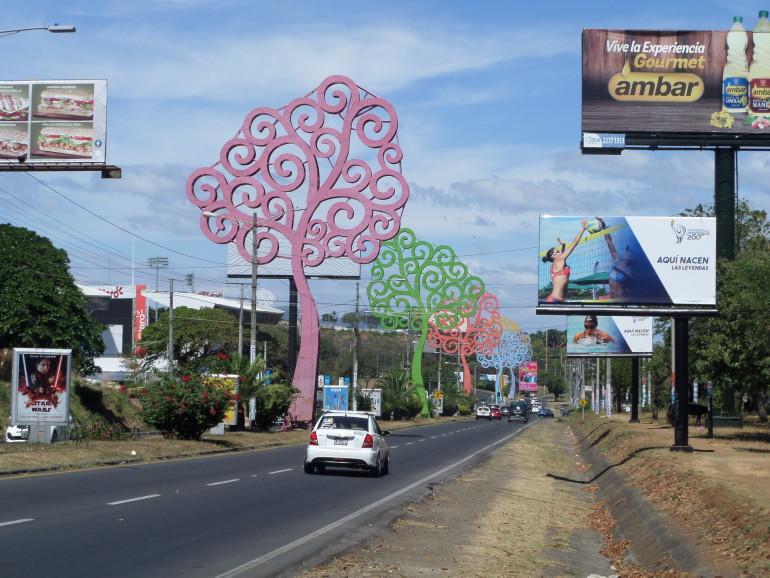 Élet fák Managuában