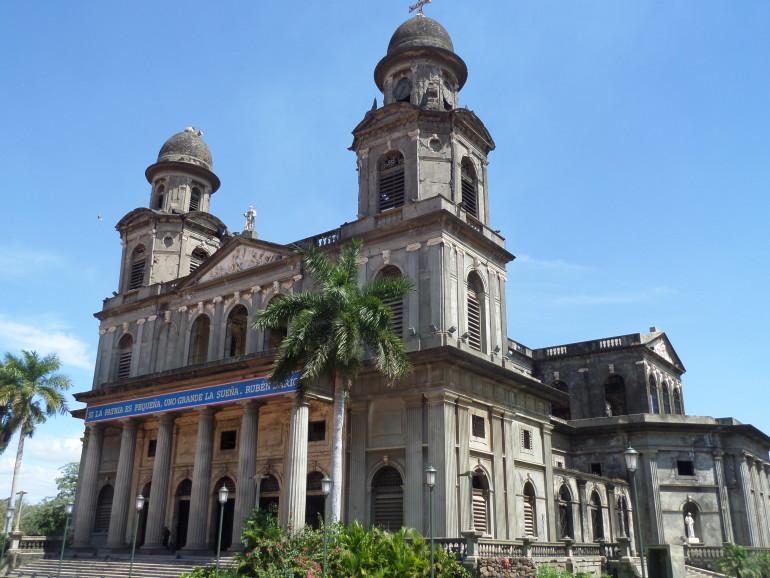 Managua földrengésben megrongálódott katedrálisa