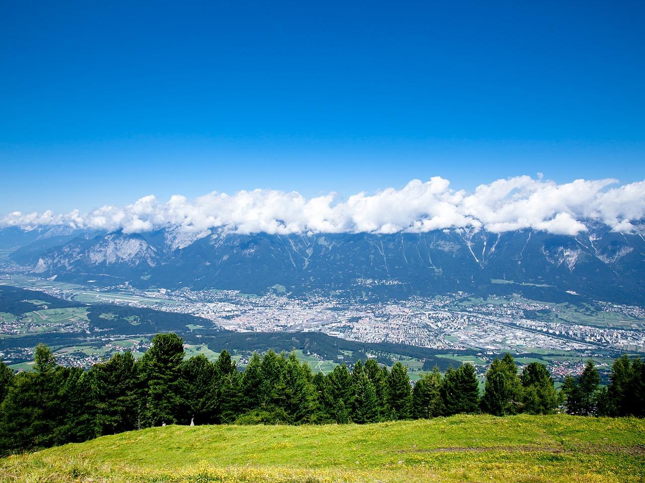 Innsbruck, Fjell, Landskap, Utsikt Over Dalen